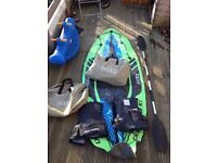 2 x inflatable kayaks good fun!!