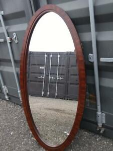 "30x60"" OVAL MIRROR WOOD GRAIN FRAME Beveled PAINTING AVAILABLE"