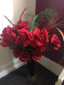 Artificial Roses bouquet not including vase