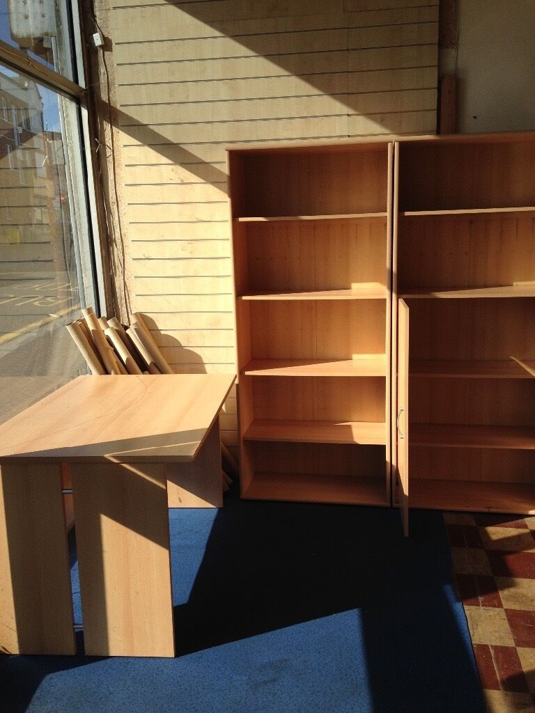 BOOKCASES X 2 PINE AND 1 X PINE TABLE MATCHINGin South East London, LondonGumtree - Price includes 2 bookcases one with cupboard and 1 x table Buyer to collect from Penge London SE20