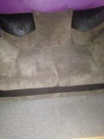 The sofas are 1month old, the chair reclines, the TVs unit and table v good, buyer to collect
