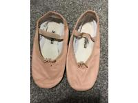 Pink ballet shoes size 13
