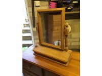 Pine mirror with storage