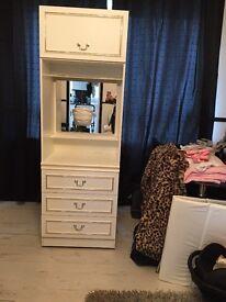Small white bedroom unit