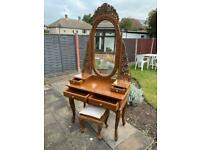 Thai dressing table and stool