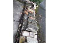 About 80 bricks - ideal as hardcore/rubble