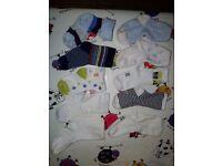 10 pair of baby socks c. 9-10 cm heel to toe in length