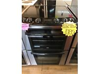 ZANUSSI 60CM CEROMIC TOP ELECTRIC COOKER IN SILIVER IN SILIVER
