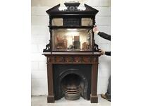 Stunning Edwardian and reproduction fire insert and surround