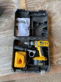 DeWALT Hammer Drill, Battery, Charger and Case