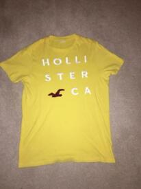 Authentic yellow Hollister t shirt
