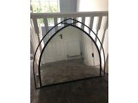 Black next cast iron mirror
