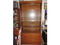 Nice cabinet, cupboard all in one, glass shelves, double door cupboard