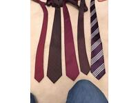5 red/burgundy ties
