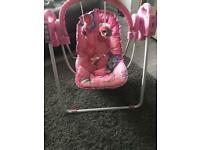 Fisher price baby musical swing
