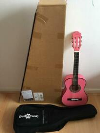 Junior 1/2 Classical Guitar Pack Pink by Gear4Musuc