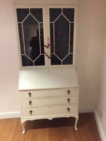 ***REDUCED*** LOVELY ANTIQUE FRENCH STYLE SHABBY CHIC BUREAU / GLASS DISPLAY CABINET / BOOKSHELF