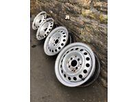 VW Golf Mark 2 Steel wheels x4
