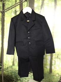 Boys 2 piece black suit- lined blazer and trousers age 1-2years
