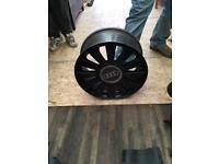 4 Black Audi alloys 17 inch 4stud