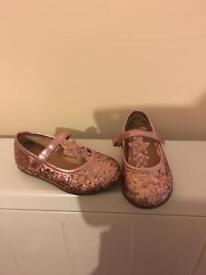 Girls size 6 trainers and dolly shoes