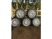 ROVER ALLOY WHEELS & TYRES all tyres ok 215 55 R16 £90ono