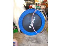 "MINI TRAMPOLINE ON 8""LEGS +AIR WALKER TRAINER £20 FOR THE PAIR"