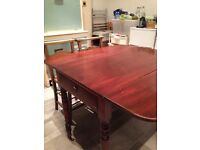 Vintage drop leaf dining table