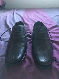 Marks & Spencers Mens Black Leather shoes - size 6