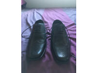 Marks & Spencers Mens Black Leather shoes - size 6