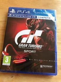 Brand new Gran Turismo sport for PS4 also PSVR compatible