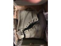 Size six grey timberland boots
