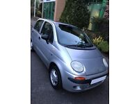 Daewoo Matiz 0.8L SE 2000 W Reg Silver Manual Hatchback Alloy Wheels CD Player FSH LADY OWNED