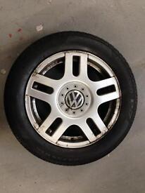 205/55-16 VW GOLF GTI MK4 Montreal 16 x 6.5J ET42 5x100 5 STUD spare alloy wheel with Pirelli tyre