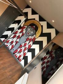 Unique artistic en suite room to rent. House share.