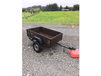 Small Trailer Approx 5ft x 3ft - In Need of Some TLC - Cheap Project