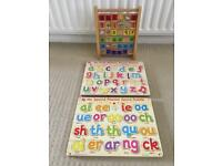 My first + second phonics sound puzzle + Alphabet abacus