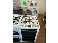 ZANUSSI 55CM GAS DOUBLE OVEN COOKER IN WHITE