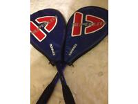 Two as new squash rackets rackets donnay