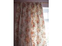 """Pair of medium weight half lined curtains 48"""" wide by 70"""" long each curtain"""