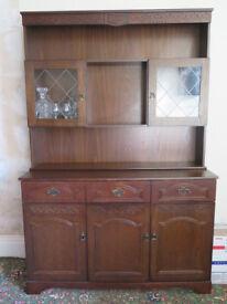 Dark wood kitchen dresser