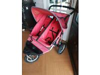 Out and about double pushchair/stroller
