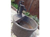barrel garden fountain
