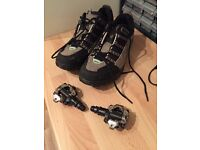 Shimano spd pedals and sh-mt31 shoes