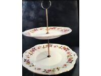 Vintage Duchess two tier cake stand
