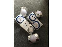 Assorted timers 24hr Uk plug plus night lights