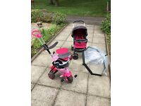 GRACO Pushchair, rain cover, push trike, toys, cot, highchair, clothes, sling, gate, bouncer