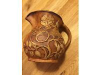 Quantock stoneware jug with floral design