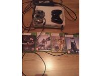 Xbox 360 with 4 games including fifa 17