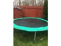 10ft trampoline good condition with protection cover extra springs and net dismantled ready to go